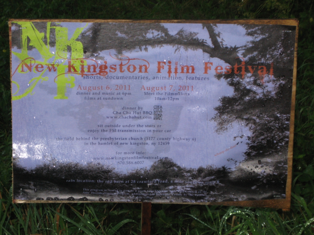 Sign for the New Kingston Film Festival