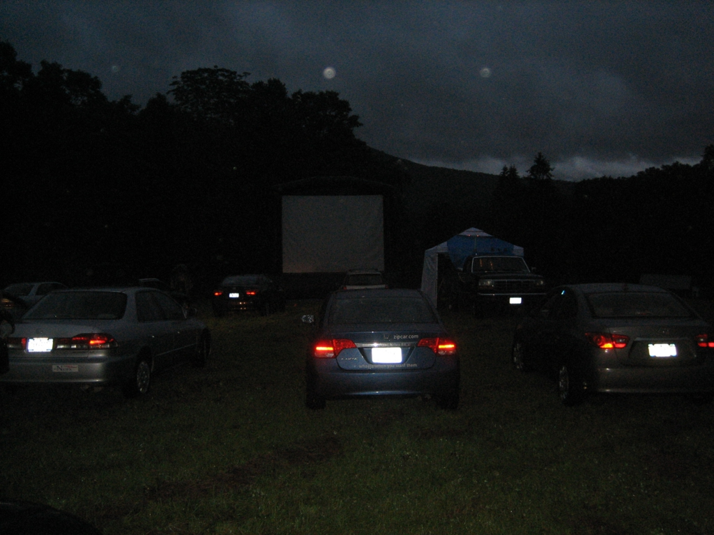 Drive-in style viewing of the films on a huge inflatable screen