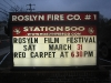 Sign for the Roslyn Film Festival